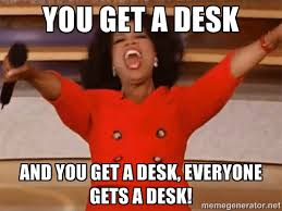 Oprah Desk