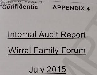 Internal Audit frontsheet