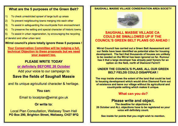 Green Belt Saughall Massie Leaflet