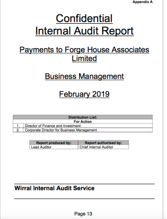 The Audit Report is out – but is Halliday? | Wirralleaks